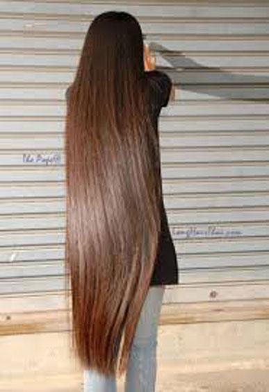 ترمیم مو با موهای بلند زنانه