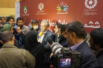 خبرنگاران شبکه های مختلف تلویزیون به همراه سران مملکتی