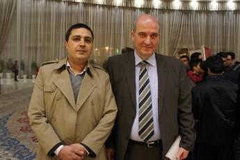 رئیس موسسه در کنار سفیر آلمان
