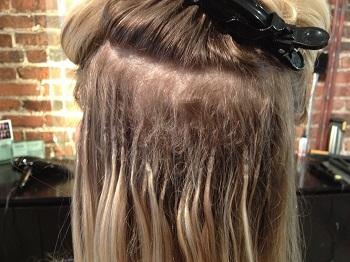 ترمیم موهای اکستنشن شده